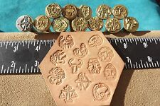 LEATHER TOOLS/ *** VTG *** DISCONTINUED *** BASIC TOOL ZODIAC STAMP SET  **