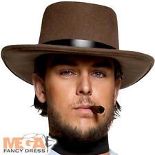 Vestido de Disfraz Vaquero Occidental pistolero Sombrero Salvaje Oeste  Rodeo Adultos Traje Accesorio d9d79af6b66