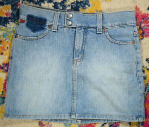 "Vintage 90s Guess Jeans USA Deconstructed Jeans Mini Skirt W30"" Indigo StoneWash"