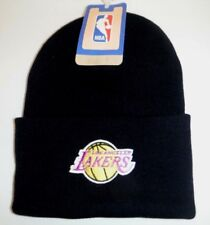 LOS ANGELES LA LAKERS BLACK CUFFED  BEANIE TOQUE KIT HAT NBA ADIDAS 1 DAY SHIP