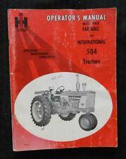 1967 International Harvester Mccormick Farmall 504 Diesel Gas LPG Tractor Manual