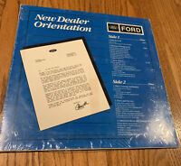 Vintage and rare Ford Motor Company New Dealer Video Disc