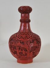 Antique Chinese Lacquer Cinnabar vase
