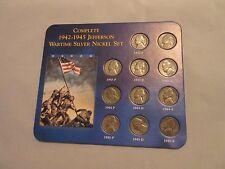 Complete 1942-1945 Jefferson Wartime Silver Nickel Set