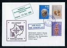 KOSOVO Nr.1-3 FELDPOST-Brief LUFTPOST PRIZREN 17.12.2000 !!! (131085)