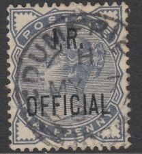 GB OFFICIAL: INLAND REVENUE QV 1/2d slate-blue opt I.R.OFFICIAL SGO5 used