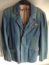 """PEPE JEANS Denim Suit Jacket for Men. VGC. Size Large, 41"""" Chest. Blue"""