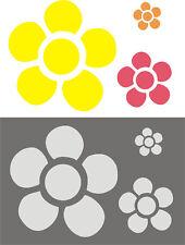 SCHABLONE, MALERSCHABLONE, DEKORFRIES, WANDSCHABLONE, Blüten - FLOWERPOWER 1