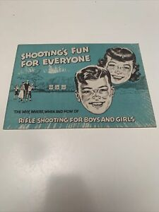 Shooting's Fun For Everyone 1957 Rifle Boys Girls Education Pamphlet NRA
