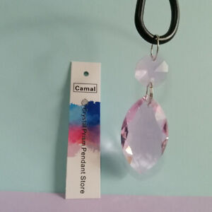15Pcs Chandelier Drop Pendant 38mm Wedding Crystal Prisms Bead Hanging Part