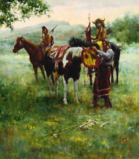 Howard Terpning MEDICINE HORSE MASK 26x30 Native American Indian Canvas Print