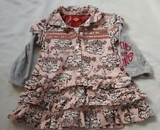 OILILY Girls Dress Pink  Brown Size 86 / 18-24 months