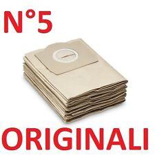 5 Sacchetti filtro carta Ricambio Originale Karcher MV3 WD3 6.959-130.0