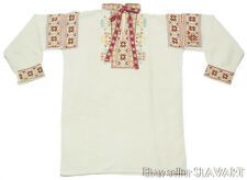 ANTIQUE rare Slovak folk costume embroidered linen shirt ZLIECHOV KROJ peasant