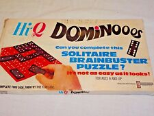 VINTAGE Hi-Q Dominooos Solitaire Brainbuster Puzzle 1960's Retro Dominoes COMPLE