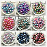 4mm 6mm 8mm 10mm Acrylic No Hole Colour Round Pearl Spacer Beads Jewelry Making