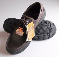 Skechers 64114 USA Mens Expected Gembel Relax Fit Oxford DK. Brown SZ9.5 (L10-2)