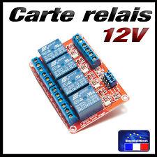 5189# carte 4 relais 12v low ou high trigger - projet Arduino raspberry...
