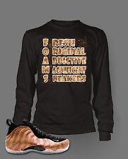 T shirt to Match  AIR FOAMPOSITE ONE DIRTY COPPER Long Sleeve Tee shirt
