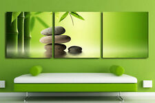 Not Framed Canvas Prints 3 Pieces Wall Art Home Decor Green Bamboo Rock Pictures