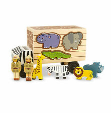 Melissa & Doug #5180  Safari Animal Rescue Shape-Sorting Truck Wooden Toy