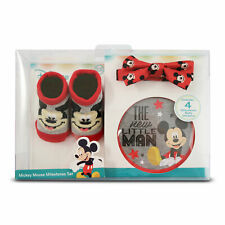 Mickey Mouse Baby Socks Bow Tie & Pose Picture Sticker Set Xmas Shower Gift New