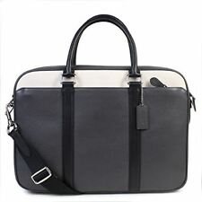 COACH Men's Briefcase Business Bag Leather Perry Slim Brief LLY