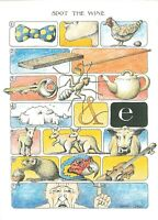 Art Humour Postcard, Spot the Wine, Unnecessary Postcards by Simon Drew IG5