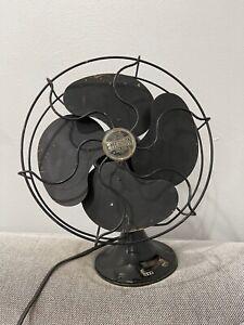 "Vintage Antique Emerson Electric Type 6250 10"" Oscillator Black Fan"