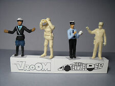 4  FIGURINES  1/43  SET 284  POLICE  GENDARMERIE  NATIONALE  VROOM  A  PEINDRE