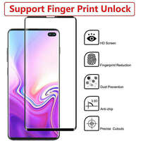For Samsung Galaxy S10 Plus Curved 3D Black Tempered Glass Full Screen Protector