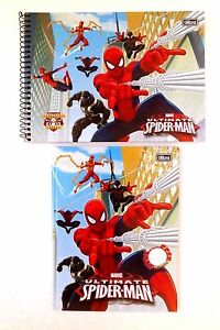 Marvel Spider-Man Boy's Hardcover Spiral Drawing Book & Composition Notebook NEW