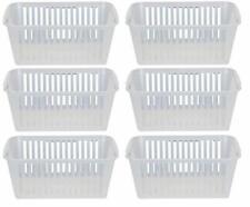 25cm Clear Plastic Handy Basket Storage Basket Set Of 6 Kitchen Organizer