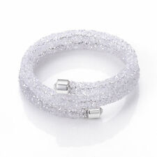 White Crystal Cuff Bracelet in Gift Box