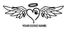 Dog Memorial.. Personalized..Vinyl Graphic Decal Car Auto Window Bumper Sticker