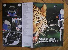 CAGIVA 125 CRUISER ENDURO DEPLIANT SCHEDA TECNICA SALES BROCHURE ORIGINALE