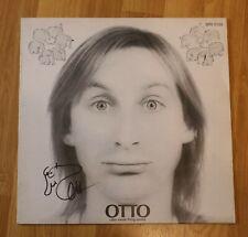 """ORIGINAL Autogramm von Otto Waalkes. pers. gesammelt. Vinyl 12"""" + pers Zeichnung"""