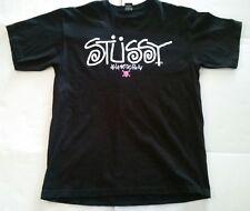 Stussy Men's XL Black T-shirt Pink Skull Crossbones NY LA LV SF DC Phi Cities
