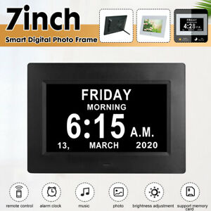 LCD Digitaler  Elektronischer Bilderrahmen, Musik/Video/Kalender/Wecker, 7 Zoll