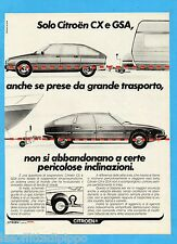 QUATTROR980-PUBBLICITA'/ADVERTISING-1980- CITROEN CX e GSA