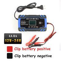 12V/24V Cargador de batería de coche inteligente Pulso reparación AGM/GEL EUPlug