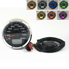 LED ATV Motorcycle GPS Speedometer Kilometer Gauge 85mm Digital Odometer 0-200km