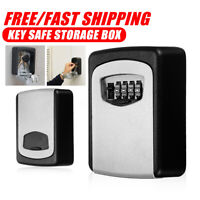 4-DIGIT CODE OUTDOOR WALL MOUNTED SAFE KEY SECURE BOX LOCK COVER HOME/CAR/KEYS