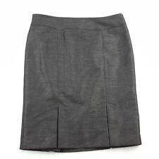 Kasper Petite Size 10P Knee Length Pencil Skirt, Sparkly Black, Pleated Hem