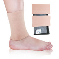 CRS Cross Ankle Gel Sleeves for Ice Skating, Ice Hockey, Ankle pads for boots