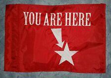 Custom YOU ARE HERE  Flag for  ATV Dirt Bike Dune Safety Flag