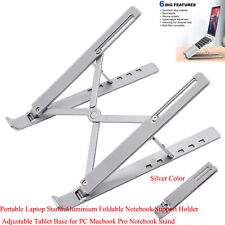 Portable Laptop Stand Auminium Foldable Notebook Support Riser_Silver/Black