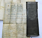 NO RESERVE c1850 Royal Navy Victorian Mariners Ticket & Service Record