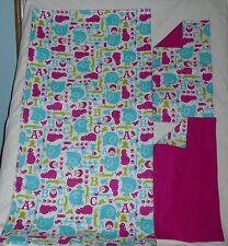 Homemade ABC'S / Animals Design Receiving Blanket/Burp Cloths-Girls