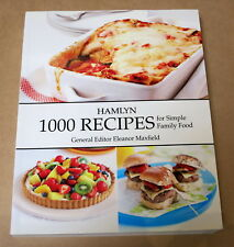 HAMLYN 1000 RECIPES FOR SIMPLE FAMILY FOOD edited by ELEANOR MAXFIELD SC 400pp